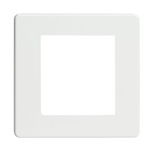 Varilight XDQG2S Screwless Premium White DataGrid Plate (2 DataGrid Spaces)
